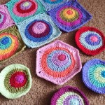Offset Circles Crochet Blanket Pattern