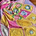 Spring Flatlay Crochet Blanket Pattern