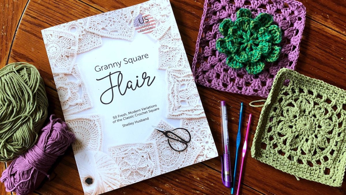 Crochet Book Review: Granny Square Flair by Shelley Husband (Spincushions) - Granny Square Day 2018