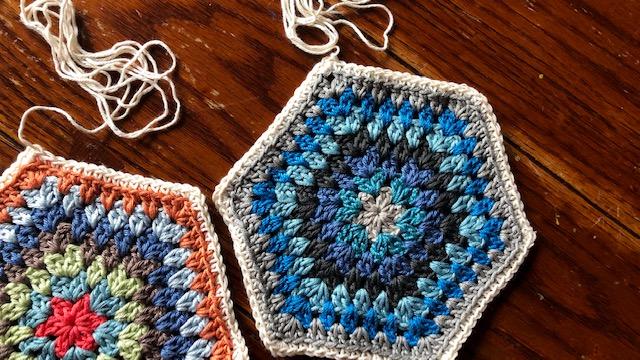 Free Crochet Pattern: Painted Hexagons Blanket - cypress