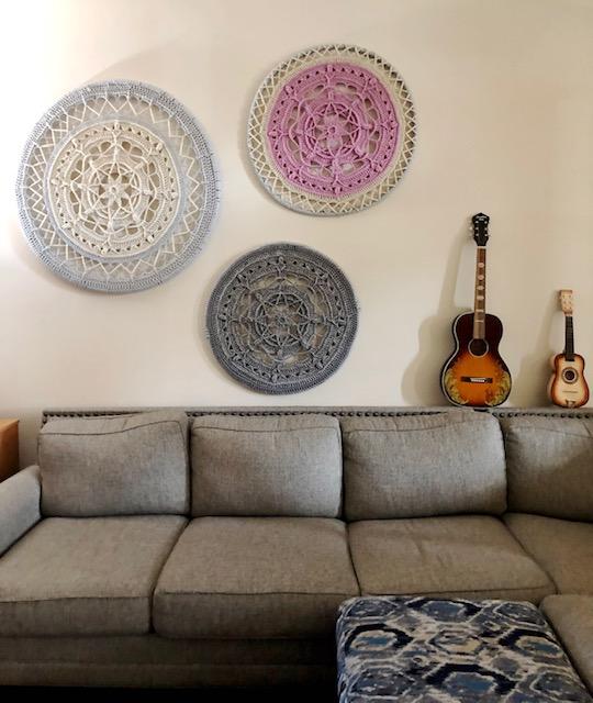 Free Crochet Pattern Large Diy Mandala Crochet Wall