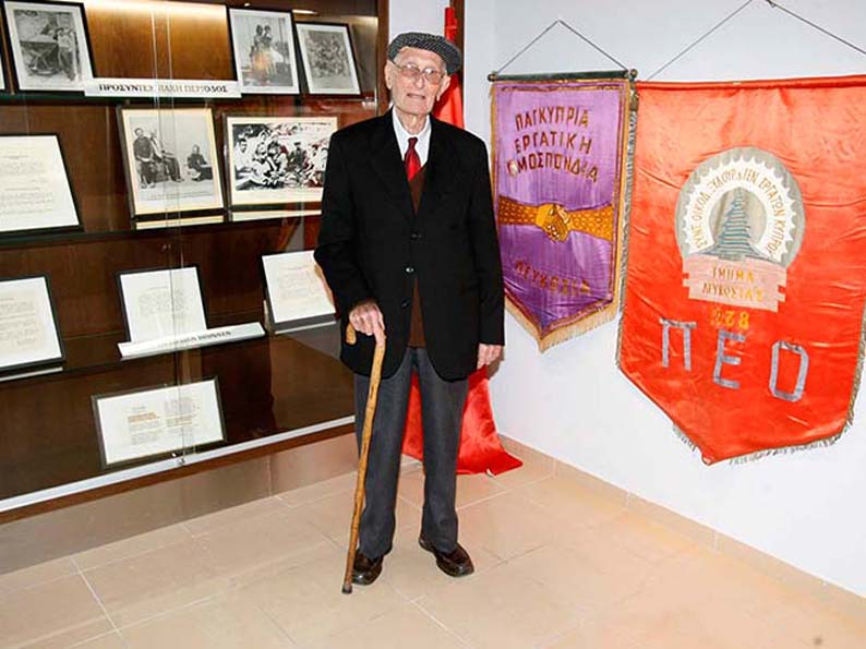 Pantelis Varnava took part in a series of landmark miners' strikes in the 1930s and 40s