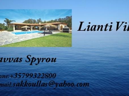 Lianti Villa – For Rent