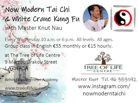 Now Modern Tai Chi & White Crane Kung Fu with Master Knut Nau