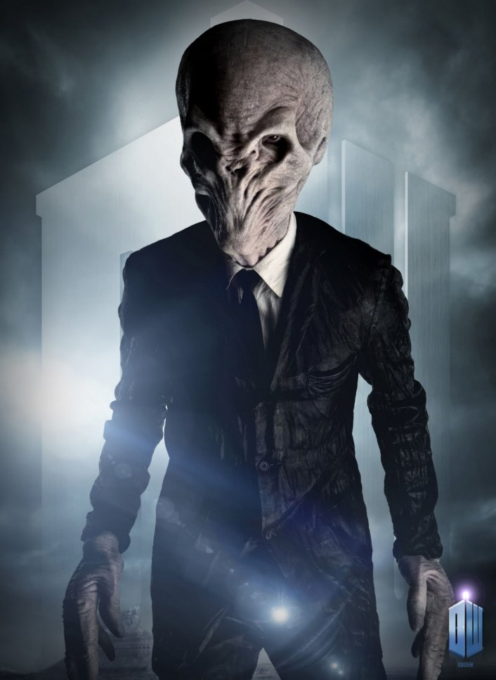 "Ross Mullan as ""The Silence"" in Doctor Who"