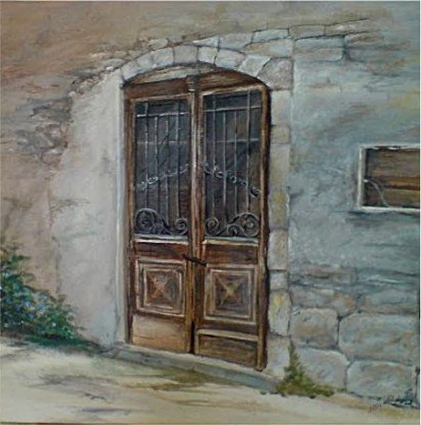 brown-door