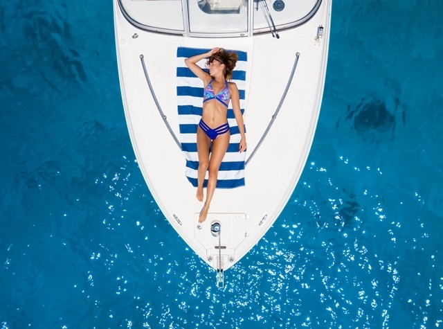 In Cyprus yacht drone photo