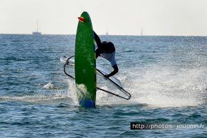 Freestyle windsurfing.
