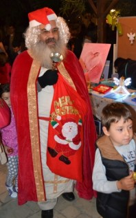 Santa Claus comes to Nicosia