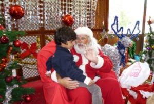 What is Santa saying