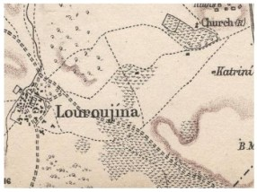 British Army map of 1879 showing Lurucina