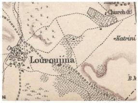 British Army map of 1879 showing Lurucina