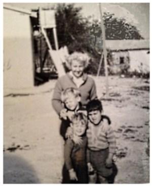Nina Archibald with the boys Robert, David and Eren Erdogan