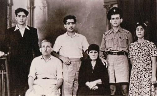 Seated L to R - Mehmet 'Fgaga', Keziban Mehmet , standing Seyit, Hasan, Kemal and Nevin