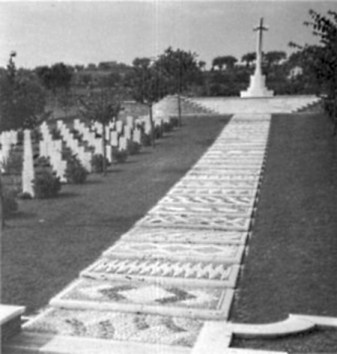 The Ancona war cemetray. Italy. The resting place of Hussein. M. Ramadan