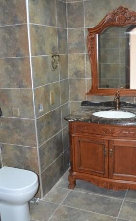 A peek into the bathrooms