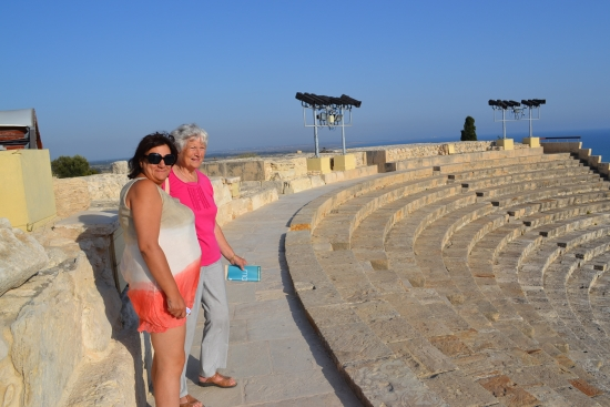 The Amphitheatre with amazed visitors