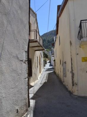 Up the narrow street
