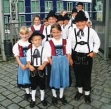 German children in folk dress