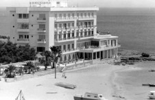 Constancia Hotel where Paul Newman stayed while filming Exodus. Dad's photo with my Mum and us on the swing...