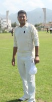 Kyrenia King's fast bowler Sajjad Kamal, who in 3 overs got 6 wickets for 12
