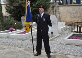 Remembrance Day 2011 - Kim Tyler The RBL Standard Bearer at rest