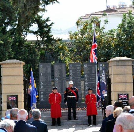 British Cyprus Police Memorial unveiling - CESV had 3 Days, 3 Duties, 3 Services
