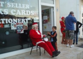 Father Christmas at the Bookseller