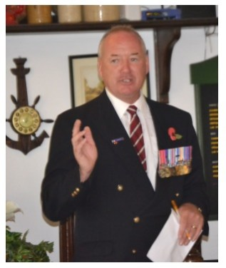 Major Brian Thomas BEM welcoming the members to the lunch