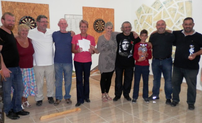 Pat Swayne Memorial Darts Competition helps Tulips and the Girne Rehabilitation Centre