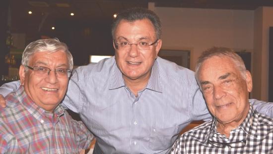 Rotarians Hasan Hasipoglu,, Hakki, Muftuzade, Malcolm Mitcheson at the Cyprus Rotary convention