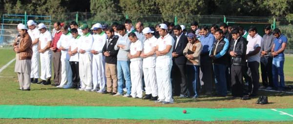 Prayers before the cricket festival