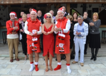 The Lady and Lads in Red and supporters image