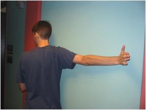 Wall stretch