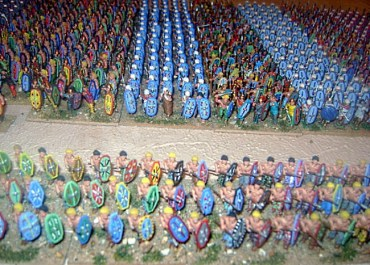 Ancient Greeks at the battle of Plataea 479 BC