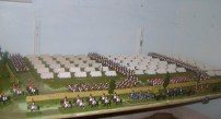 French Napoleonic army camp and cavalry