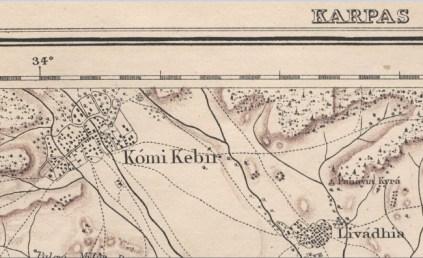 Komi Kebir - Capt H H Kitchener 1882 map