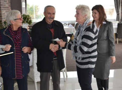 The Karkum Special Needs School receives a donation from Barbara Fursman