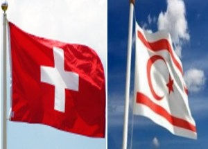 TRNC and Swiss flags