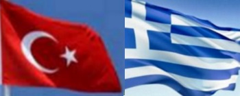Turkish and Greek flags