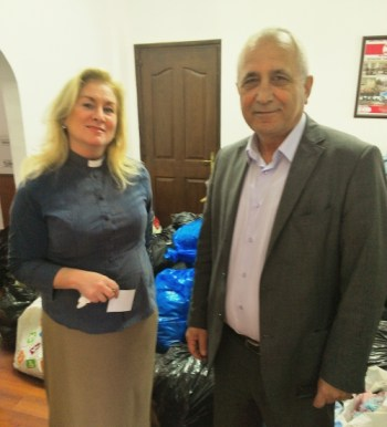 Rev Wendy Hough with The President of Kizilay, Ahmed bey