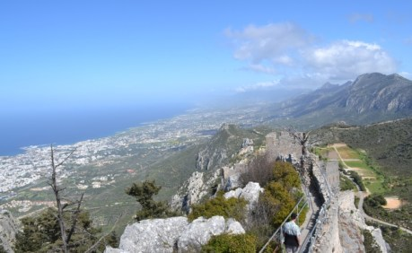 Views from the peak of St Hilarion Castle