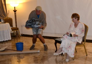 Ian Chennell and Barbara Booth at rehearsal