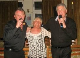 l-r Glen King, Lesley Roper, Andrew Tait