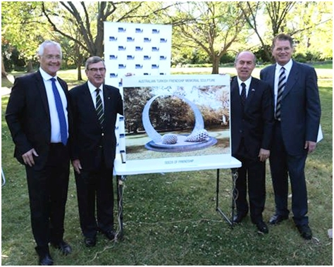Plans and how the memorial will look with Australian members and the Turkish Consul for Vıctoria