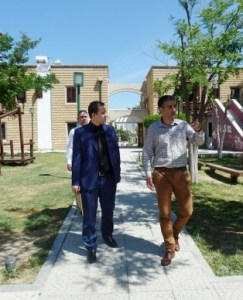 Ali Güneş is show around SOS Childrens Village by Ahmet Akarsu