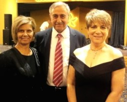 Figen Rasmussen with President Akinci and Meral Akinci