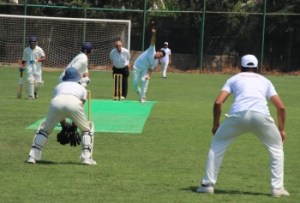 Girne bowling to the Cyprus Lions.