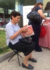 Lady enjoying the book