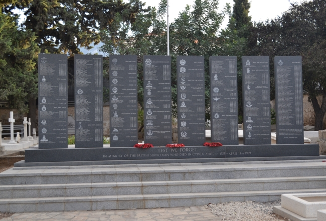 Memorial to British Servicemen on active service who died iduring the Cyprus Emergency in 1955 to 1959